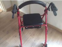 As new never used four wheel mobility Walker with seat paid £60 for it would like £35 ono