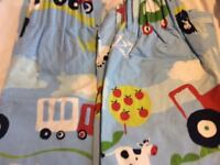 Lined children's curtains