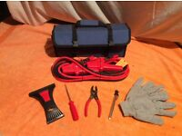 Emergency Car Battery Jump Start Kit and Tools