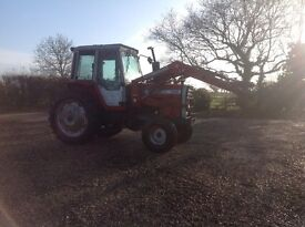 Massey Ferguson 698 with front loader