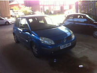 2004 RENAULT SCENIC Dynamique dCi 1870cc Turbo with Intercooler Diesel Manual 6 Speed 5 Door M.P.V.