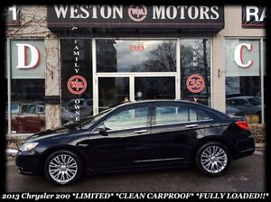 2013 Chrysler 200 LIMITED* LEATHER* SUNROOF* FULLY LOADED!!!