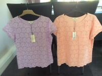 2 Embroidery Anglais Tops Size 16