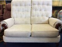free delivery two seater light beige colour as new.