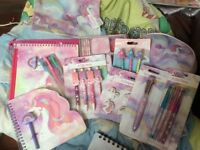 10 piece Unicorn stationery set - IDEAL FOR BACK TO SCHOOL - over 70 individual items