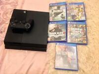 PS4 with 5 games