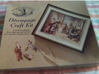 New Decoupage Craft Kit. Create a three dimensional picture in a wooden display frame.