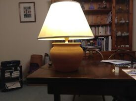 Table lamp, terracota