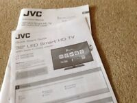 T.V. 32in JVC LED Smart HD TV with built in DVD player. Purchased End of Jan, as new. Genuine reason