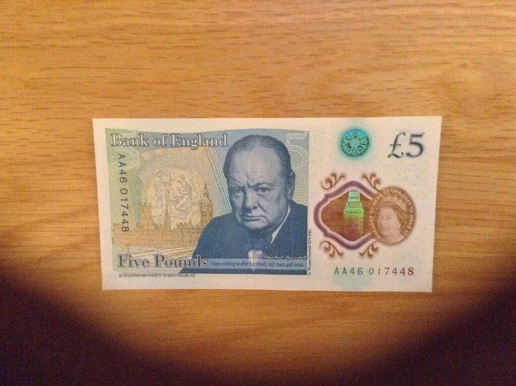New AA46 Five Pound Note