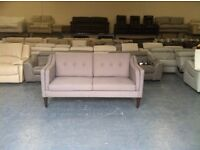Ex-display Copenhagen grey fabric 3 seater sofa