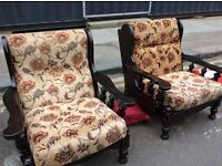 1970s farmhouse armchairs : free Glasgow delivery