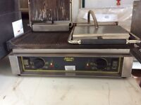 Roller Grill Double PANINI R Ribbed Top & Ribbed Base Contact Grill