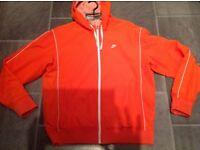Gents Nike Zip up jacket with hood- Size Large - Orange