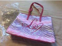 Ladies Lipsy Zebra Ombré Beach Bag Handbag NEW