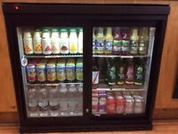 Osborne under counter double sliding door display fridge