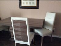 BIba Marlene Table and 4 chairs bought from Frazers