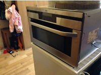 Integrated AEG microwave/grill/oven combo