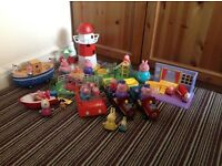 Large bundle of peppa pig toys plus interactive play mat !