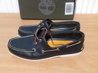 TIMBERLAND MENS CLS2l LACE UP BOAT SHOES IN NAVY BLUE SIZE UK11