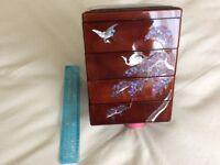 Korean Lacquer Jewellery Tray Box