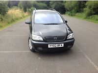 Vauxhall Zafira, 7 seater, 1 year MOT, one owner from new