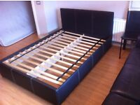 In mint condition double bed with mattress