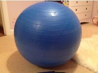 Fitness Ball and Pump ( brand new)