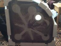 Victoria Plum V8/8mm Corner Quadrant Shower Enclosure,Stone Tray,Riser Kit800 x 800mm 1/2 price £200