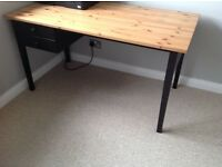 Desk with 2 draws (ikea Arkelstorp desk)