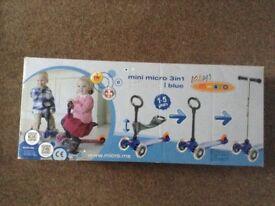 Kids mini micro scooter blue