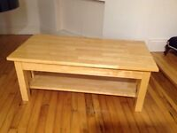 John Lewis maple coffee table