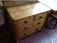 Lovely old pine chest of drawers
