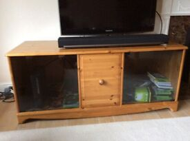 Solid pine TV cabinet with lots of storage