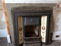Cast iron tiled all in one fire place