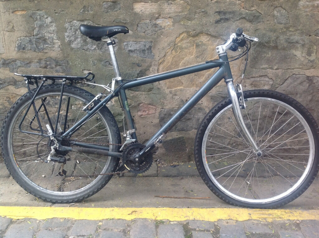 """Mountain bike for a minor repair16"""" aluminium framein New Town, EdinburghGumtree - Used mountain bike for a minor repair. Has 16 inch aluminium frame (Oskar brand, 7005 alloy, suits someone 5""""4 5""""7 high (160 170cm)), Shimano Alivio gears and v brakes. Needs new front tyre/tube and a new chain. Gears are working well, in future..."""