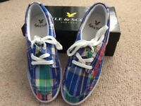 Lyle and Scott plimsoles. Brand new with box