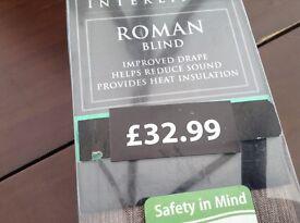 Interlined Roman blind