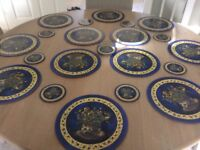Set of 12 matching table mats and coasters