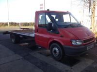 2005 FORD TRANSIT RECOVERY TRUCK 2.4 DIESEL LWB 16FT LONG BED TWIN WHEEL, 1 YEAR MOT, ROAD TAX £1995