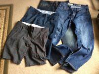2 pairs men's jeans & 2 pairs men's shorts