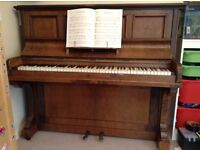 Piano - upright Burling and Mansfield.