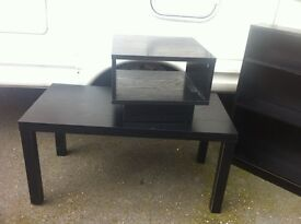 3 Items Bookcase Coffee Table Bed Side Table Cabinet Very Good Condition