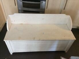 Monks bench- solid needs painting great project