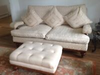 Three Seater Sofa and foot stall