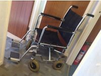 Very Stronge Fold Up Wheel Chair No Plastic foot rests