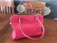 DKNY Cherry Pink Ostrich Leather bag
