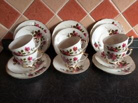 Vintage Tea set by 'Delphine' pottery of Stoke on Trent.