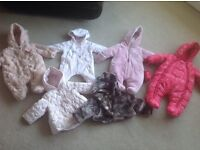 Baby Snowsuits and Jackets 0-3mths