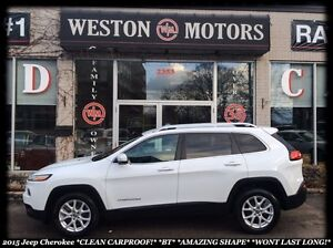 2015 Jeep Cherokee CLEAN CARPROOF* 1 OWNER* BLUETOOTH* MUST SEE!